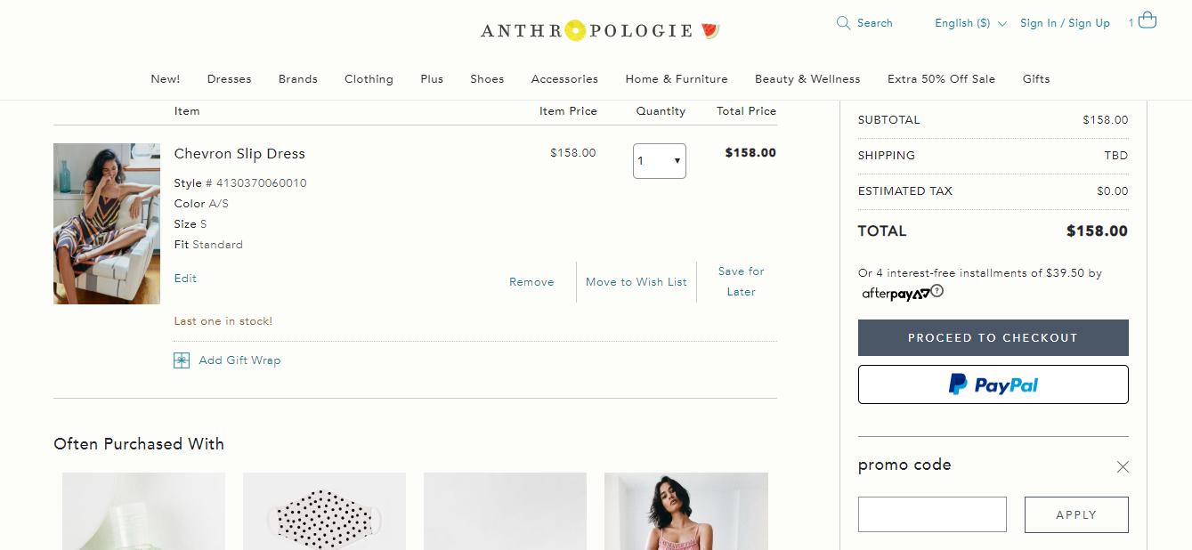 anthropologie discount codes