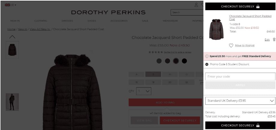 Dorothy Perkins Checkout