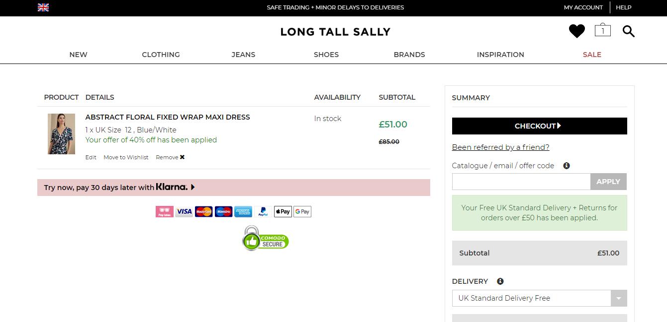 long tall sally discount codes