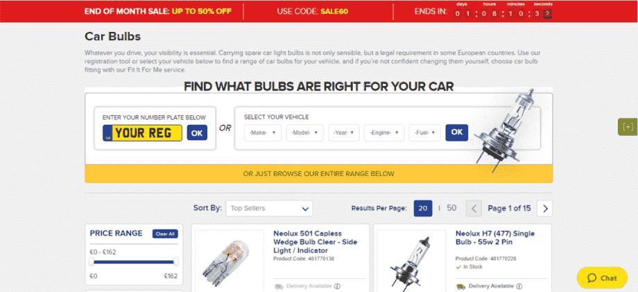 Euro Car Parts Checkout