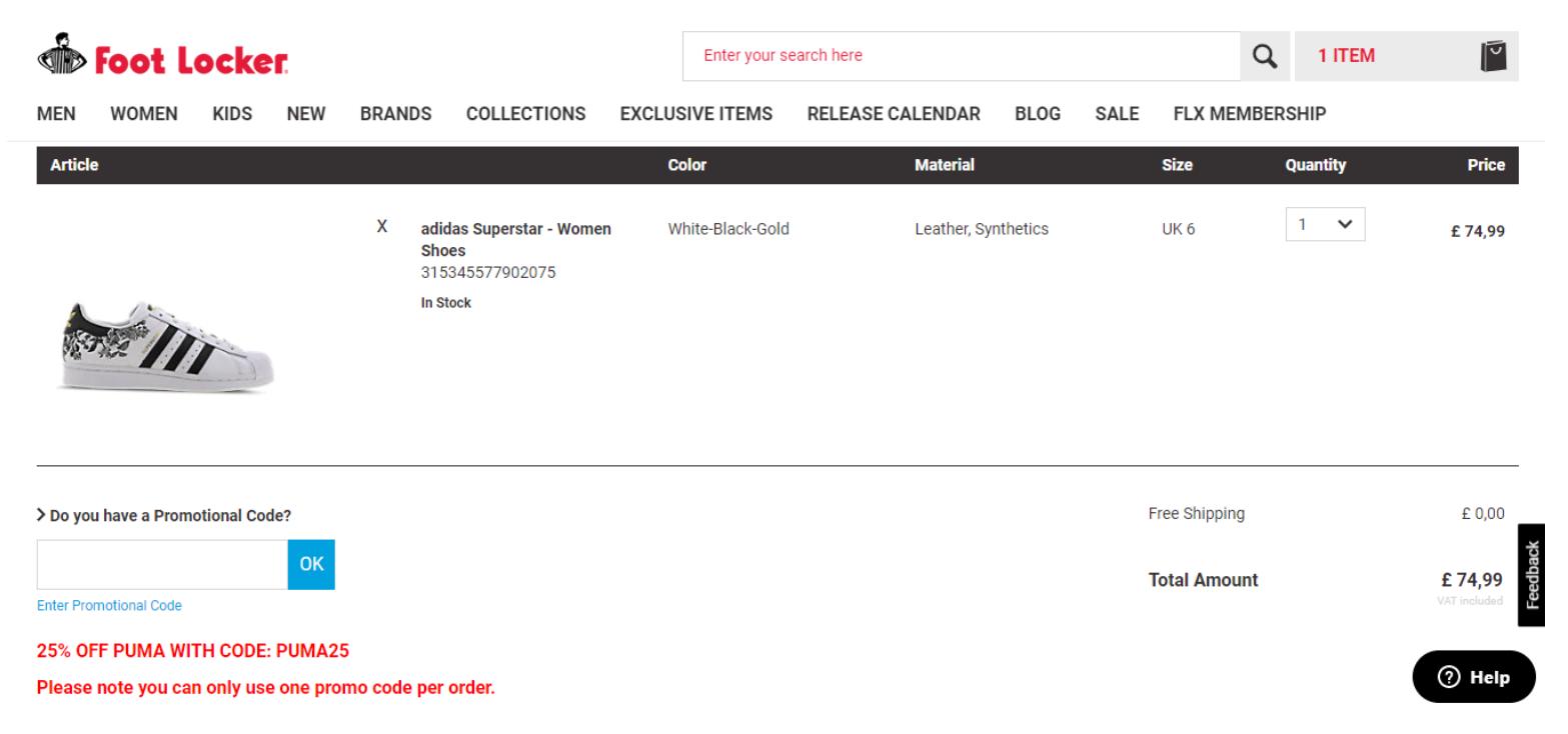 Foot Locker discount code