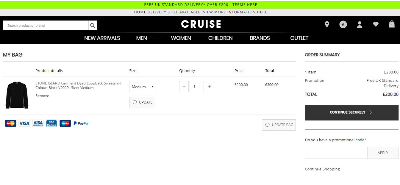 cruise fashion discount codes