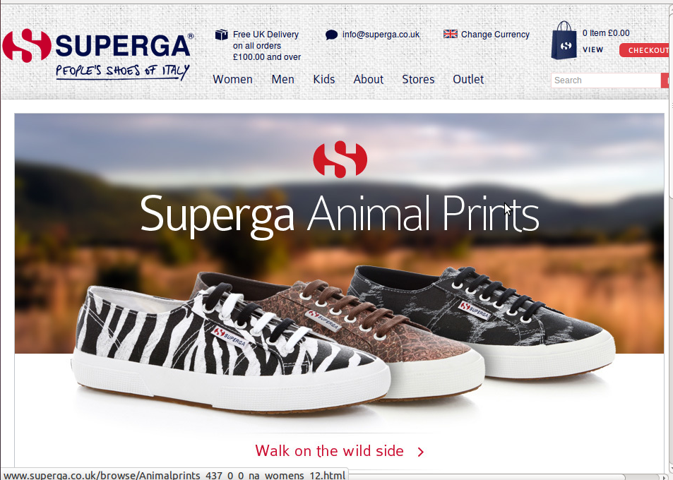 Superga homepage