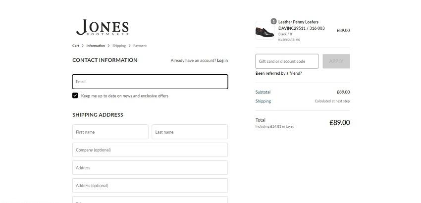 Jones Bootmaker discount code