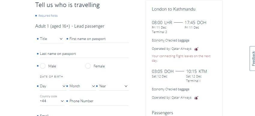 using your British Airways discount code