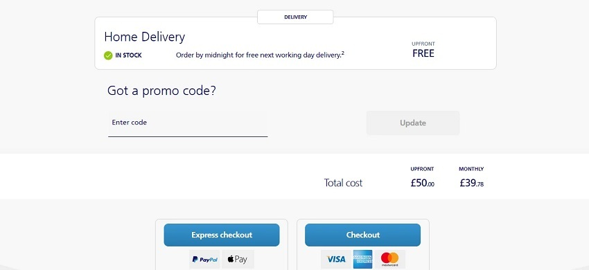 using your O2 discount code